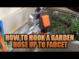 hook a garden hose up faucet attaching garden hose