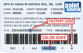 honda touch up paint color code and directions for honda