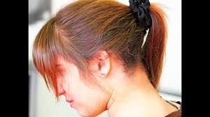 hair undercut female gorgeous long dark hair with undercut shaved nape youtube
