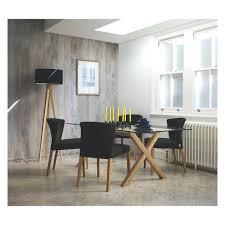 sloane wingback dining room chair wool upholstered greydark grey
