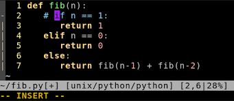 jedi vim pattern not found how to comment out a block of python code in vim stack overflow