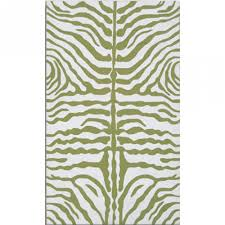 Zebra Shower Curtain by Zebra Green White 8x10 Sku Rugm 25221e Machine Made