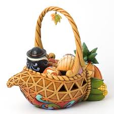 jim shore autumn cornucopia thanksgiving basket jim shore