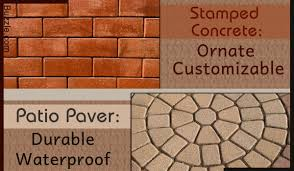 Concrete Patio Vs Pavers Sted Concrete Vs Paver Patio Which Is The Better Option