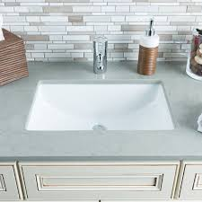 undermount bathroom sink bowl hahn white ceramic large rectangular undermount bathroom sink free