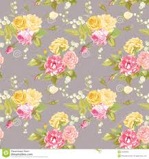 Chic Flower Seamless Floral Shabby Chic Background Stock Vector Image 52063890
