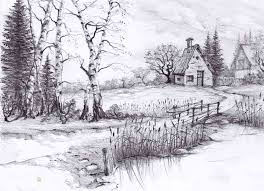 beautiful pencil drawings of nature beautiful sketches of nature