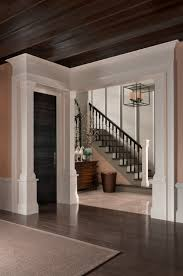 design is in the details interior doors sita montgomery interiors in the image above a slab door and moulding with an angular silhouette put a contemporary spin on traditional design the designer chose the door and