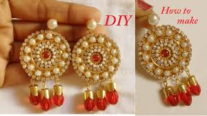 diy how to make designer fancy earring at home how to make