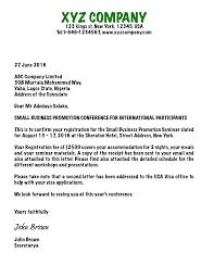 Letter Visa Application Exle Sle Of Invitation Letter For Us Visa Application Compudocs Us