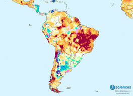 Central South America Map by South America Water Deficits To Persist In Central Eastern