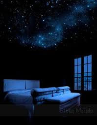 glow in the dark bedroom glow in the dark shooting comet with stars and moon outer space