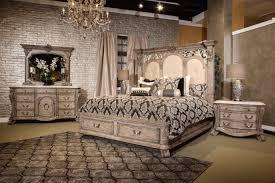 Michael Amini Oppulente Collection 4 Piece Villa Di Como Storage Bedroom Set Heritage Finish By
