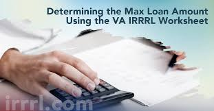 Va Max Loan Amount Worksheet by Determining The Max Loan Amount The Va Irrrl Worksheet Irrrl