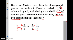 math problem fractions adding and subtracting unlike fractions word problems
