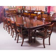 dining room table with 12 chairs antique 10 ft flame mahogany extending dining table 19th century