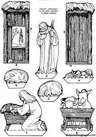 nativity diorama christmas coloring pages 04 bible story paper