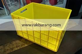 Jual Keranjang Container Plastik Bekas keranjang kontainer plastik polos tipe 2224 p rajarakbarang rak