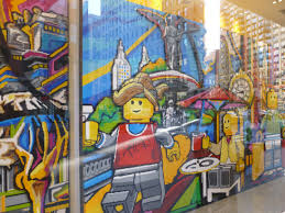 flat iron lego store window mural album on imgur part two of lego wall mural the employees didn t know how many bricks were used