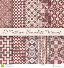 fashion marsala color seamless pattern set vector stock vector
