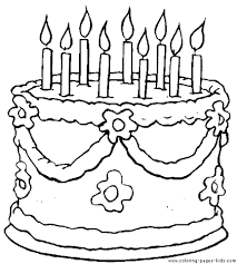 cake coloring pages birthday free wedding to print cupcake