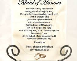 matron of honor poem poem from of honor to wedding ideas