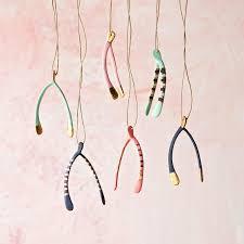 small wishbone ornament glitterville shop