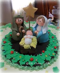 Christmas Cake Decorations Jane Asher by Nativity Christmas Cake Idea Porcelana Pasitos Y Sagradas