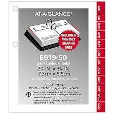 Office Depot Desk Calendars At A Glance Compact Desk Calendar Refill 3 X 3 34 30percent