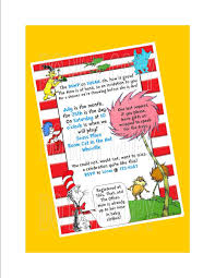 dr seuss invitation baby shower birthday party sip n see