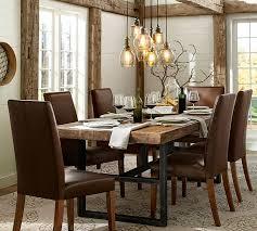 narrow dining room tables reclaimed wood appealing griffin reclaimed wood fixed dining table pottery barn in