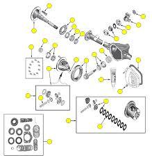 2003 dodge durango rear differential rear axle model 44 wrangler 97 06 crown automotive sales co