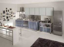 White Kitchen Cabinets With Tile Floor Stainless Steel Kitchen Countertops Wooden Laminated Island