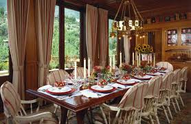 dinner table decoration dining room xmas table decorations with candlesticks also chair