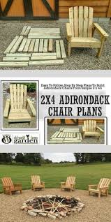 2x4 diy adirondack chair perfect for the patio backyard or fire