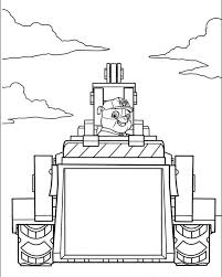 kids printable paw patrol coloring pages rubble