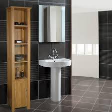 baumhaus mobel oak 36 5 x 180cm free standing tall bathroom