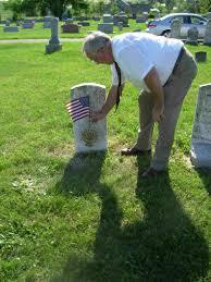 Grave Marker Flags Fairfax Resolves Sar Benjamin Peachee Grave Marking