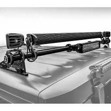 roof rack emergency light bar zroadz z394811 kit jeep wrangler jk rear window hinge led light