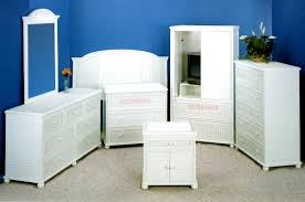 Wicker Furniture Bedroom Sets by Seaside Rattan White Bedroom Suite From Summit Design White