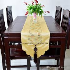 luxury damask table runner high end jade patchwork table runner rectangle dining table mats