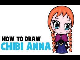 draw chibi anna frozen