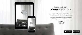 try all vita lampshades with unfold at home augmented reality app