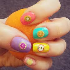 tutti frutti nails stamp nail art