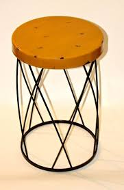Yellow Side Table Sunny Yellow Metal Side Table Fabdiggity