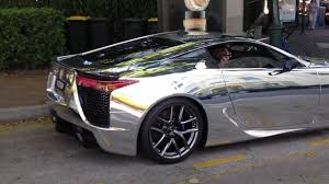 lexus cars gold coast lexus lfa wrapped in chrome revving great exhaust sound youtube