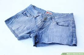 5 ways to bleach shorts wikihow