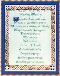 wedding blessing celtic wedding blessing cross stitch pattern at gryphon s moon