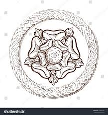 tudor rose circular celtic frame traditional stock vector