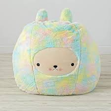 furry bunny bean bag chair the land of nod